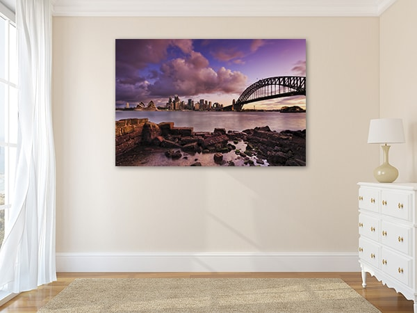Harbour Bridge Sunset Art Prints on the Wall