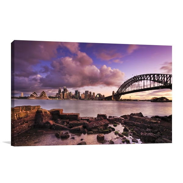 Harbour Bridge Sunset Art Print