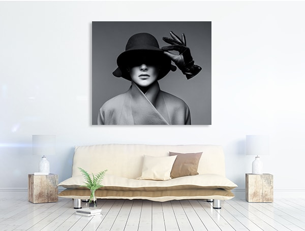Hat And Glove Prints Canvas