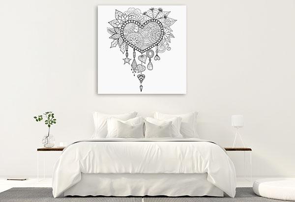 Heart Dream Catcher Canvas Prints