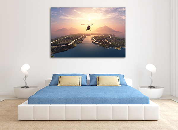 Helicopter Art Print on the wall