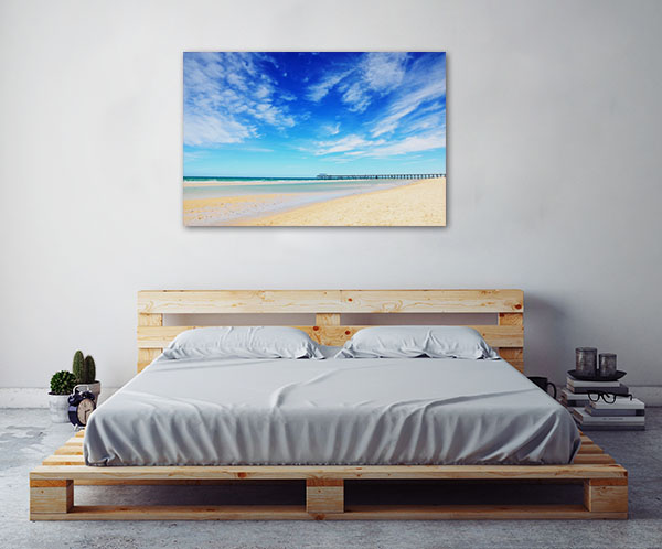 Henley Beach Art Print Over Blue Sky Canvas Art Prints