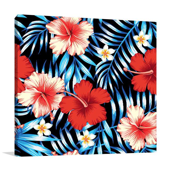 Hibiscus Flowers Canvas Art Prints