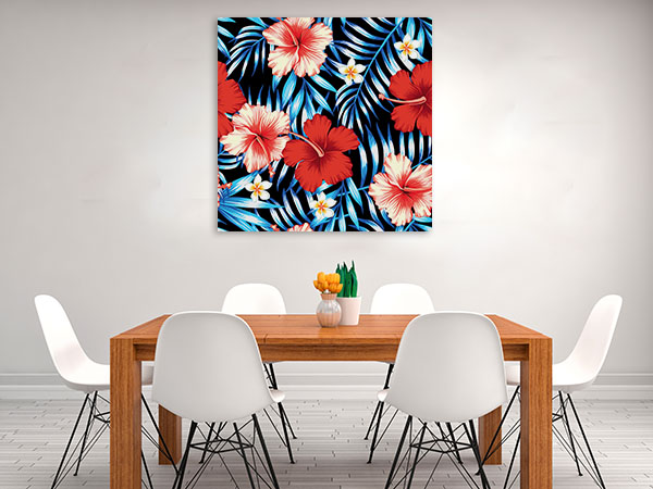 Hibiscus Flowers Wall Art Print And Artwork Canvas Prints