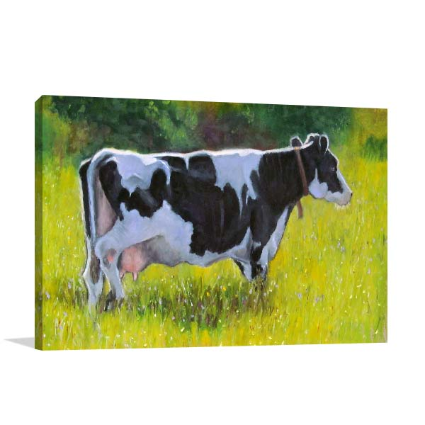 Holstein Dairy Cow Canvas Art