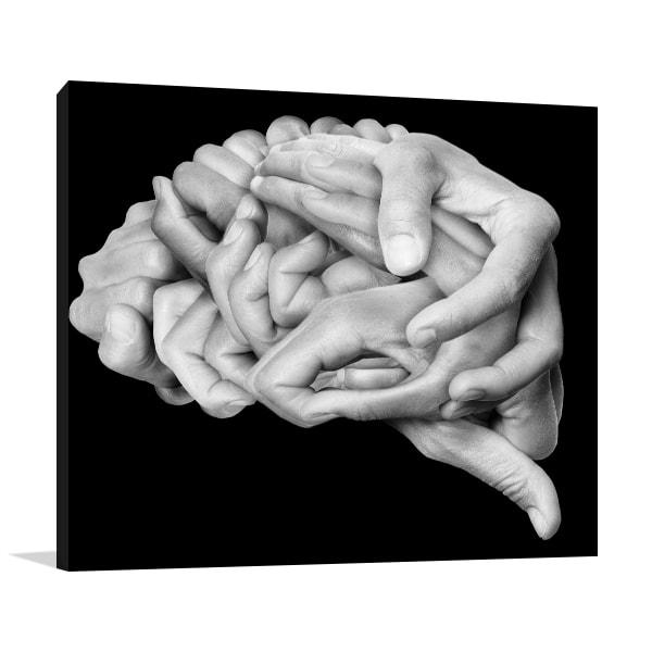 Human Brain Wall Art
