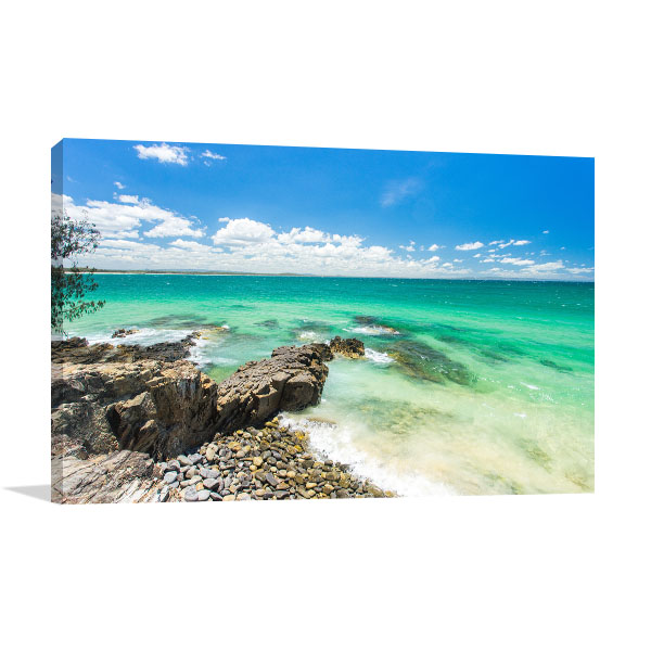 Incredible Blue Water Sunshine Coast Canvas Prints