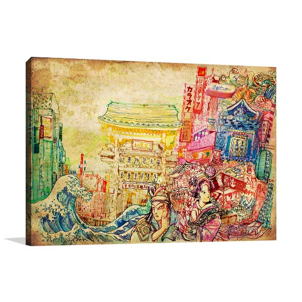 Japan Culture Canvas Art Print In Framed Artwork For Sale