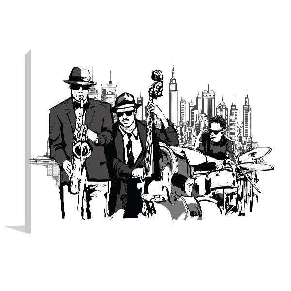 Jazz band print artwork