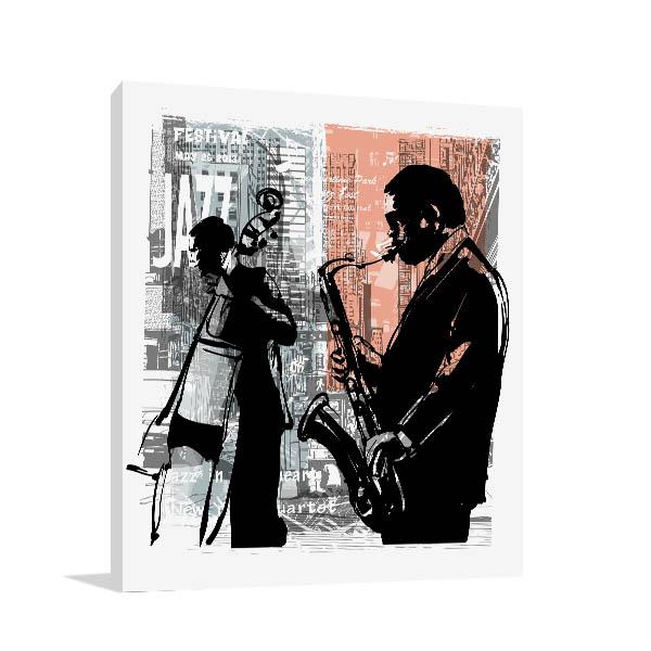 Jazz In New York Print Artwork