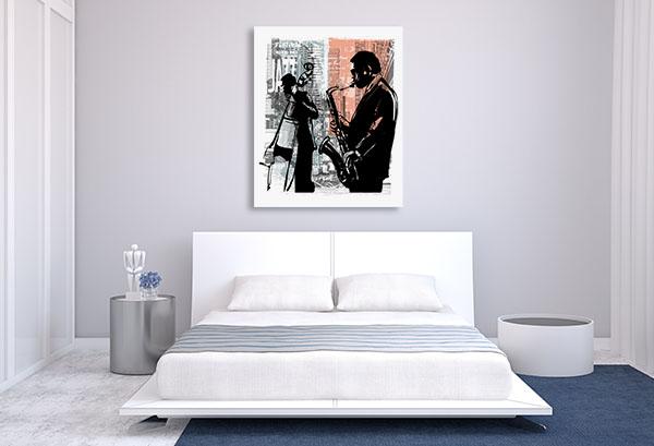Jazz In New York Canvas Art