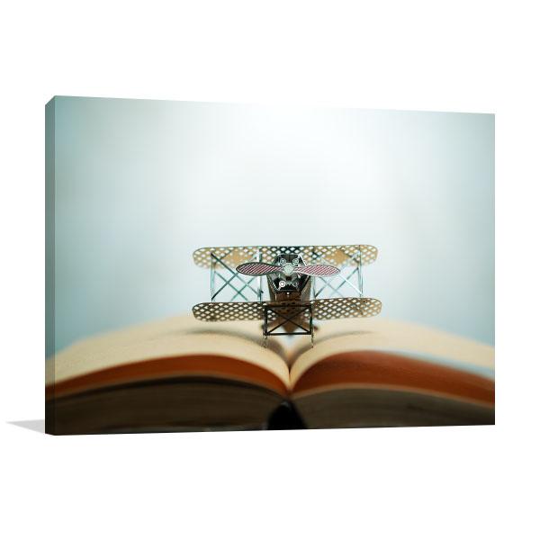 Jet and Book Print Artwork