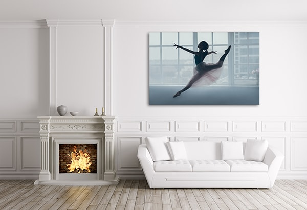 Jumping Ballerina Prints Canvas