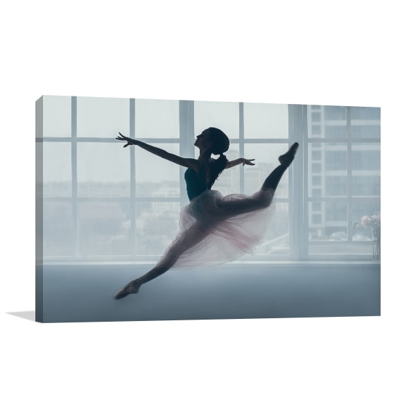 Jumping Ballerina Canvas Art Prints