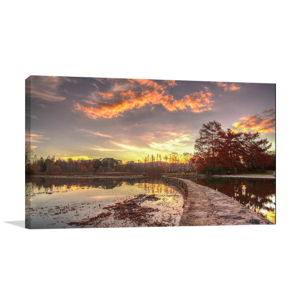 Lake Burley Griffin Canberra Canvas Art Prints