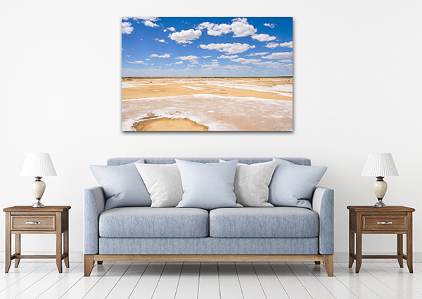 Lake Eyre Art Print on the wall