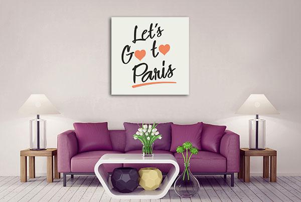 Let's Go To Paris Canvas Art