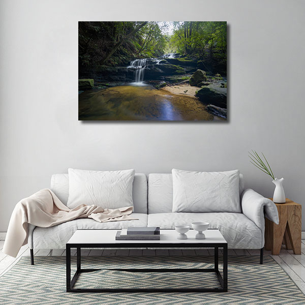 Leura Art Print Of Cascades Blue Mountain Canvas Photo Print
