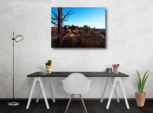 Leura Photo Art Print Of Mountain Village Canvas Art Prints