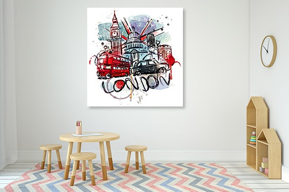 London Sketch Canvas Prints