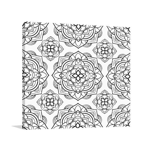 Lotus Pattern Canvas Art Prints