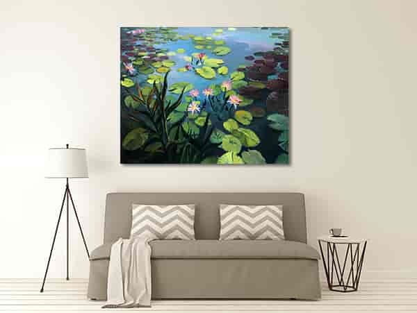 Lotus Pond Print Artwork
