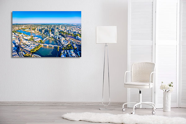 Magnificence of Brisbane City Wall Art Print