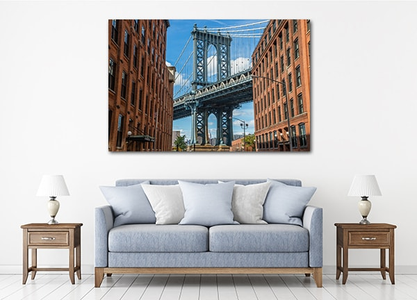Manhattan Bridge Canvas Art Prints