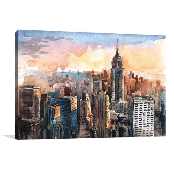 Manhattan Skyscrapers Wall Art