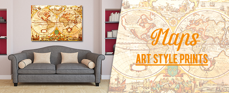 Maps Style Wall Prints From Australia