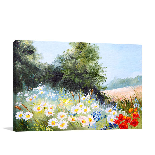 Meadow Of Daisies Canvas Art