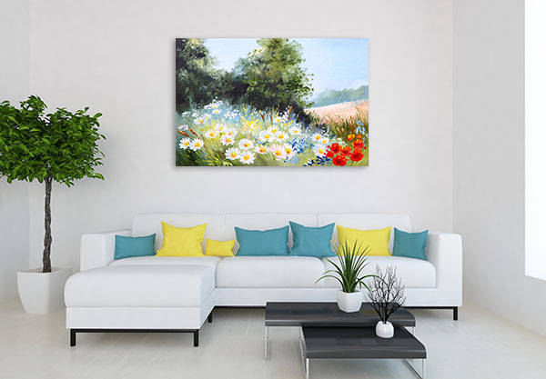 Meadow Of Daisies Canvas Prints