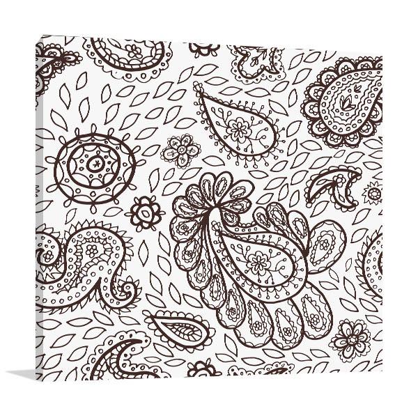 Mehendi Pattern Prints Canvas