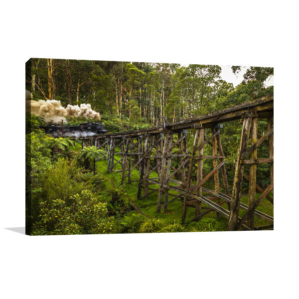 Melbourne Art Print Mount Dandenong Photo Wall Arts