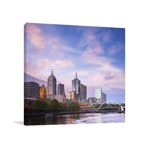 Melbourne Cityscape Canvas Prints