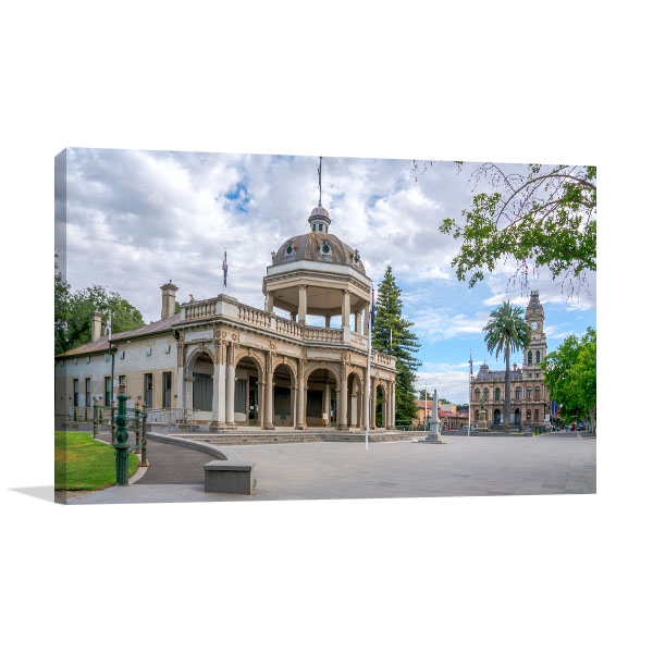 Memorial Bendigo City Canvas Art