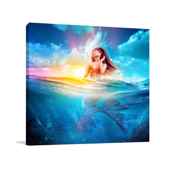 Mermaid Wall Art Mermaid Canvas Prints