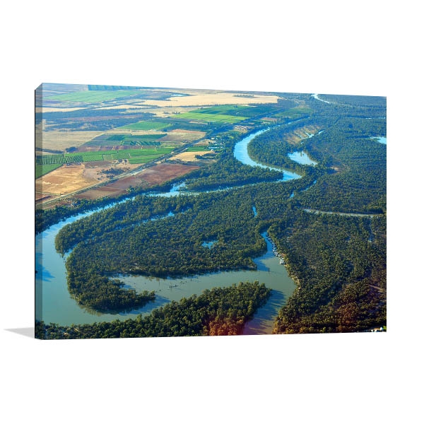 Mildura Art Print Aerial View Wall Art Photo Print