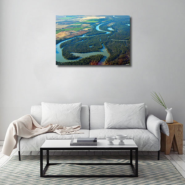 Mildura Art Print Aerial View Canvas Art