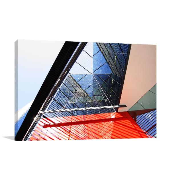 Modern Architecture Art Print Prints Canvas