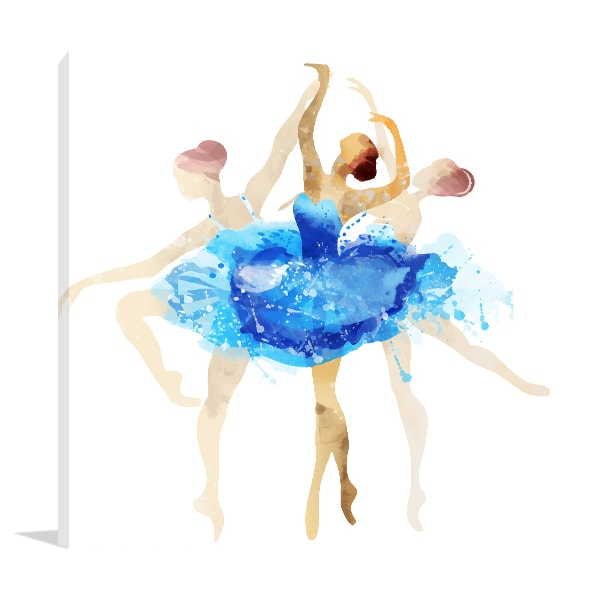 Motion Ballerina Canvas Art