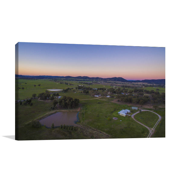 Mudgee Wall Art Print Of Farm Sunset Canvas Prints