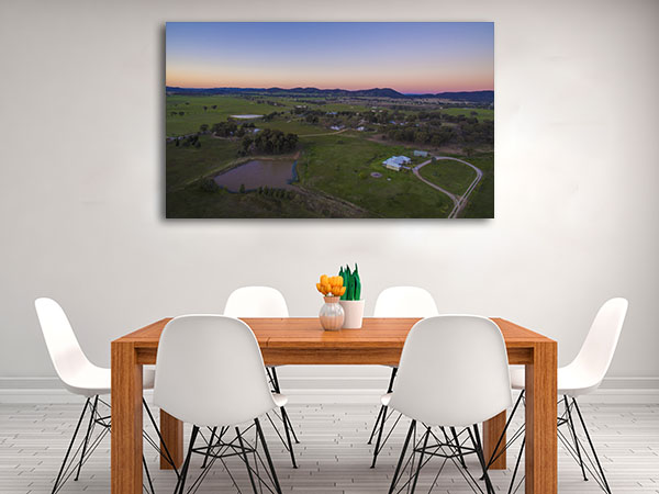 Mudgee Wall Art Print Of Farm Sunset Canvas Art Prints