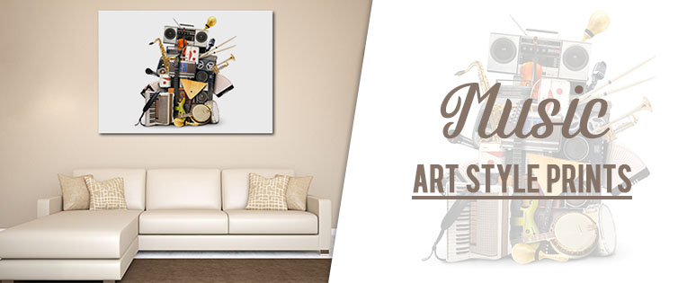 Music Art Style Prints In Huge Wall Inspirations