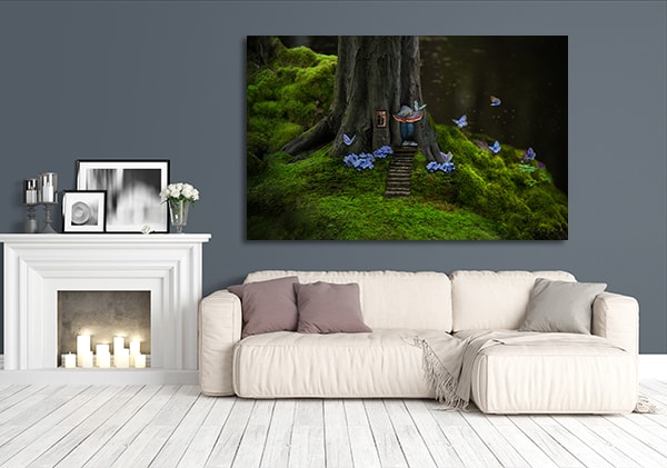 Mysterious Forest Print Artwork
