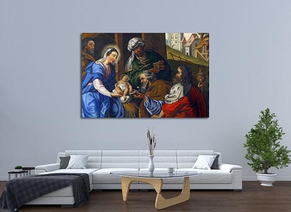Nativity of Jesus Art Print on the wall