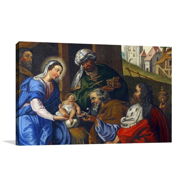 Nativity of Jesus Canvas Art Print