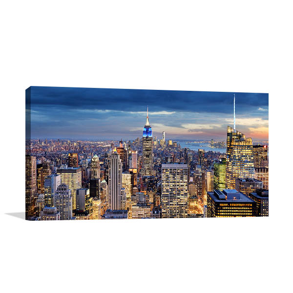 New York City Aerial Canvas Art Prints
