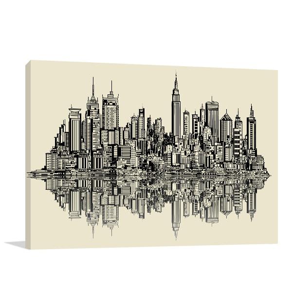 New York Sketch Canvas Art Prints