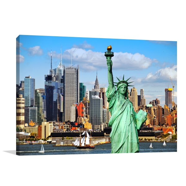 High Lights Of New York Skyline Canvas Wall Art: New York Skyline Wall Art Print Pictures In Canvas For Sale